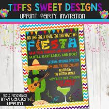 fiesta invitation mexican party invitation custom