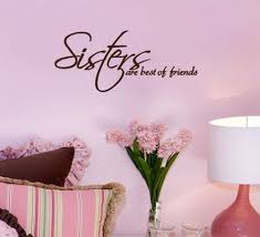 online get cheap sister wall decal aliexpress alibaba group sisters friends wall decals vinyl stickers home decor living room pictures bedroom wallpaper girls