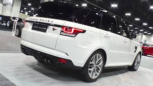 range rover svr white 2016 range rover sport svr rear the fast lane car
