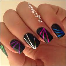 nail art for beginners scotch tape design youtube 25 best ideas