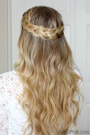 braided hairstyle instructions step by step dutch halo braid missy sue