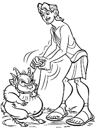 hercules coloring page coloring pages