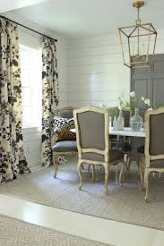 Dining Room Curtain Ideas Dining Room Curtains With White Wooden Fancy Exciting