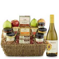 cheese and cracker gift baskets hickory farms simply festive gift basket hickory farms