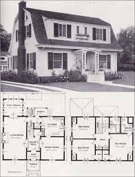 Dutch Colonial Home Plans | 1920s vintage home plans dutch colonial revival the washington