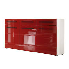 Wohnzimmerschrank Rot Sideboard Motley Hochglanz Rot Weiß Schrank Kommode Board