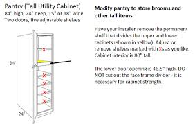What Is The Standard Height Of Kitchen Cabinets Pull Out Trash Cabinet Built In Waste U0026 Recycling Center