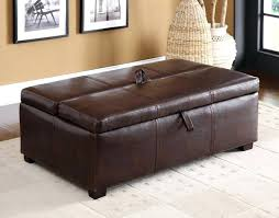 pull out ottoman full leather with bed hidden sleeper single
