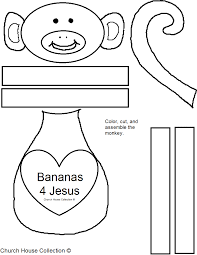 church house collection blog bananas 4 jesus monkey cutout craft