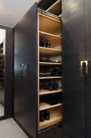 pangaea interior design master closet in custom gray ash cabinetry