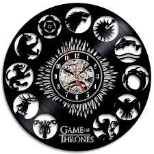 game of thrones theme creative black vinyl record clock outdoor