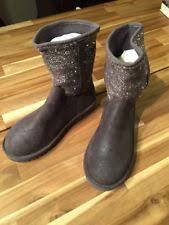 ugg womens lyla boots charcoal ugg 8 metallic ebay