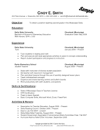 Teachers Resume Example Examples Of Elementary Teacher Resumes Free Resume Example And