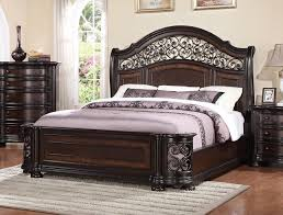 California King Sleigh Bed Wrought Iron And Wood King Sleigh Bed In Brown