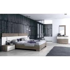 chambre a coucher contemporaine design chambre adulte contemporaine coloris chêne clair gris valencia top