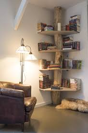 3 beautiful corner tree bookshelf that you could diy