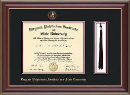 virginia tech diploma frame virginia tech diploma frame rosewood gold lip w vt tassel black