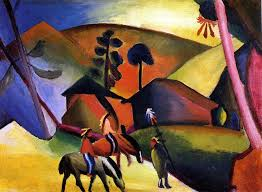august macke painting indians on horses by august macke