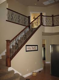 Wood Banisters And Railings Dark Cherry Stairway Rails Wrought Iron Stair Railings With Wood