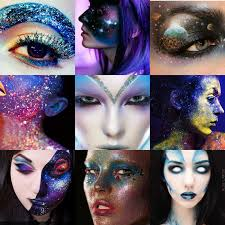 Alien Halloween Makeup by Katy Clouds Festival Fancy Dress Cosmic Space Explorer