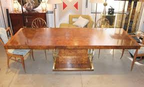 burl wood dining room table burled elm and brass extending dining table by founders for sale at