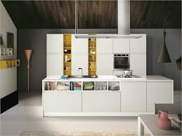 lube kitchen furniture design with center island and white yellow