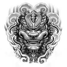 foo fu dog foo dog print by elvin tattoo on artsider get the print