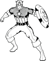 coloring pages captain america color pages captain america