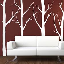 tree and birdcage wall sticker designer transfer tree forest wall stickers