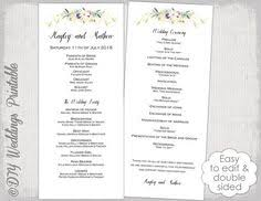 tea length wedding programs templates free wedding program template pale pink antique by diyweddingsprintable