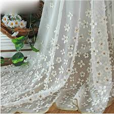Window Curtains Sale Flower Living Room White Sheer Window Curtains Buy White