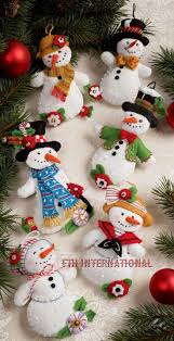 bucilla let it snowman 6 felt ornament kit