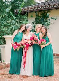 fuchsia and emerald wedding at villa woodbine ruffled