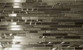 Metal Kitchen Backsplash Tiles Metal And Random Strips Backsplash Tile Mosaic 15 1 2 X12