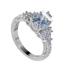 white gold wedding rings for women splendent white stylish jewelry women men wedding ring anel