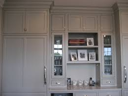 the wall color is bm edgecomb gray the white cabinents are bm