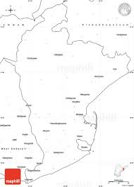 Blank Map Of East Asia by Blank Simple Map Of East Godavari