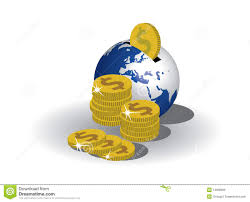 earth bank and dollars royalty free stock images image 14968969