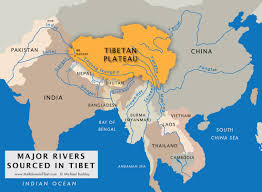 Where Is India On The Map by River By River Meltdown In Tibet