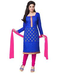 style holich elegant blue churidar dress material buy style