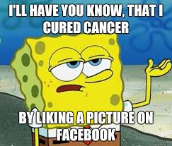 Funny Cancer Memes - liking a picture spongebob meme