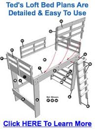 Loft Bed Plans Free Full by Free Diy Full Size Loft Bed Plans Awesome Woodworking Ideas How To