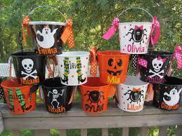 halloween bucket personalized halloween bucket pail many
