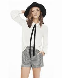 blouse with tie neck sleeve tie neck blouse express