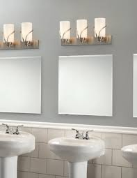 soft vanity lighting concept for light grey wall paint part of