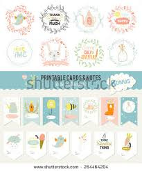 romantic love cards notes stickers labels stock vector 264464204