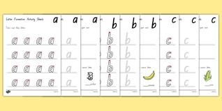 a z letter formation activity sheets nz nz new zealand a z