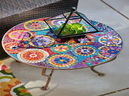 outdoor mosaic accent table furniture mosaic accent table outdoor awesome best 25 mosaic table