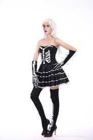 Halloween Costumes Skeleton Woman Aliexpress Com Buy 2016 New Women Halloween Scary Black Skeleton
