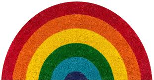 halloween doormat novogratz by momeni aloha rainbow doormat u0026 reviews wayfair
